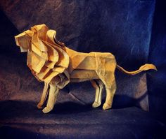 Origami Lion by NaturalFolds on Etsy