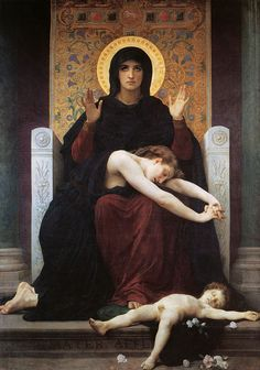 William Adolphe Bouguereau (1825-1905)  Vierge Consolatrice  Oil on canvas  1875