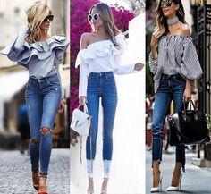 cómo combinar una blusa con olanes esta primavera 2018. #moda #mujerconestilo