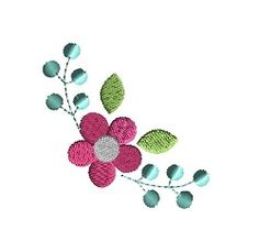 Flower Corner - 4 Sizes! | Floral - Flowers | Machine Embroidery Designs | SWAKembroidery.com
