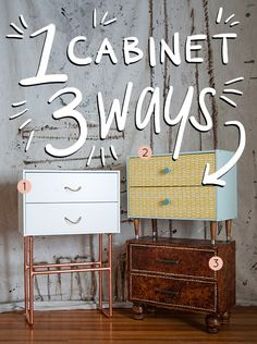 3 Awesome Ways To Makeover 1 Cabinet - Design*Sponge