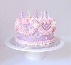 Pastel Cakes, Colorful Cakes, Pretty Birthday Cakes, Pretty Cakes, Raspberry Cake, Cute Desserts, Just Cakes, Fancy Cakes, Cake Creations