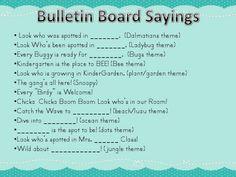 Really Roper: Bulletin Board Saying List