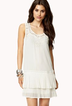 Embroidered Drop Waist Dress | FOREVER21 - 2047967488