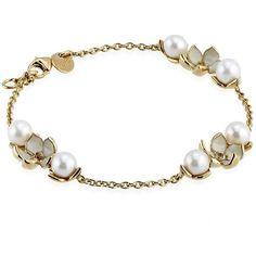 Shaun Leane Gold Vermeil Cherry Blossom Bracelet ($450) ❤ liked on Polyvore featuring jewelry, bracelets, accessories, gold, gold vermeil jewelry, shaun leane jewellery, shaun leane jewelry, shaun leane and charm bangle