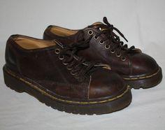 317fb963c373 Dr Doc Martens Ladies Shoes Matte Leather 7 Eye Brown Size 5 US Size 3 UK
