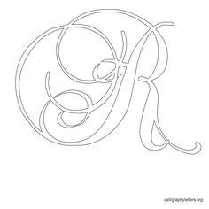 Calligraphy Letter Stencil R