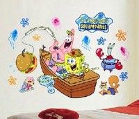 Cartoon Wall Decals SpongeBobs Friends Wall Decals - Spongebob room decals