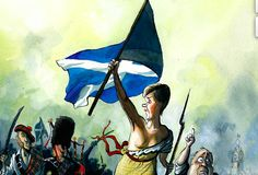 Nicola Sturgeon, as depicted by Morten Morland on the cover of the 9 May 2015 Spectator (with apologies to Delacroix)