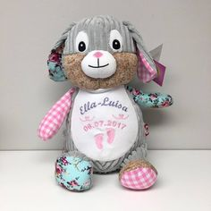 Cubbies, Teddy Bear, Babys, Pink, First Communion, Unique Gifts, Stuffed Toys, Cuddling, Babies