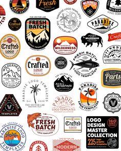 Letter Discover Logo Design Master Collection for Illustrator & Photoshop www. Typography Logo, Typography Design, Branding Design, Beer Logo Design, T Shirt Logo Design, Brewery Design, Logos Vintage, Vintage Logo Design, Retro Logos