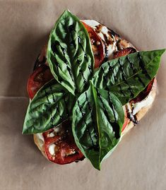 mini caprese flatbread