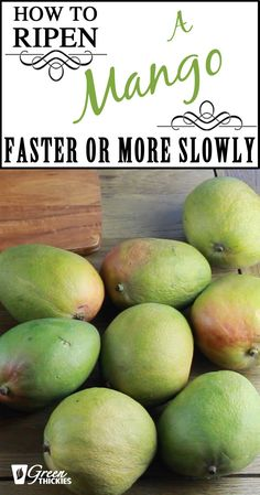 This video will show you how to ripen a mango faster, and how to keep your mango perfect if you're not ready to eat it when it is ripe. This short video will help you to eat more perfectly ripe mangos and avoid throwing them away. How To Make Smoothies, Good Smoothies, Fruit Smoothies, Mango Recipes, Fruit Recipes, Fruit Facts, How To Cut A Mango, Fruit Tree Garden, Best Time To Eat