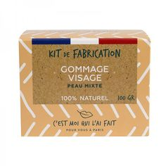 Kit de Fabrication Gommage Visage 100% Naturel Container, Minute, Kit, Drinks, Products, Home Made, Homemade Scrub, Lighten Skin, Drinking