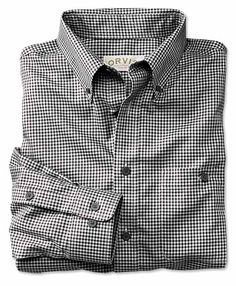 Simply pull this handsome buffalo-check dress shirt out of the dryer and go about your day—the pure cotton fabric's special wrinkle-free treatment ensures that you'll keep a neat look without ironing, ever. Our patented two-step process treats the fabric and the finished shirt separately for a crisp look that lasts all day. Long sleeves with adjustable cuffs. Button-down collar. Button-through pocket. Wrinkle free dress shirt is made of pure cotton. Washable. Imported. <br />Sizes: ...