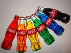 Unique Coca-Cola Multiple Oil Color Glass Bottles by Cenika