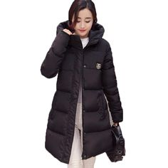 New 2016 Winter Coat  Women Solid Down Jacket Thick Warm Padded Cotton Coat Long Plus size Parka CE0429 #>=#>=#>=#>=#> Click on the pin to check out discount price, color, size, shipping, etc. Save and like it!