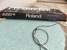 Roland Juno 6 Roland Juno, Analog Synth, Recording Equipment, Drum Machine, Drums, Studio, Drum Sets, Drum, Drum Kit