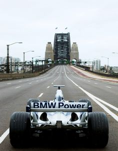Mark Webber drove the Williams F1 BMW FW26 over the Sydney Harbour Bridge in 2005