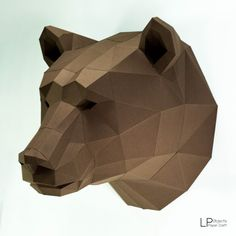 You can make your own Bear head for wall decoration! DIY paper craft projects to create a polygonal shaped sculpture. It is a paper 3D paper sculpture that can be put together by folding, gluing and assembling.  It can be placed like art or decoration. It looks really great and modern on your place.  Difficulty Level: Hard ( You need approximately 6-7 hours to build )  Paper Crafts : Bear Head Size : 44 cm Height, 40 cm wide, 40 cm deep Use paper : A4 color card paper 160 -300 gsm Template…