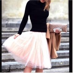 CLOSING 19 Dec: Pink Five Layer Tulle Skirt BUNDLE SALE: save 15% when you use the NEW BUNDLE FEATURE to buy 3 or more items :)  ⚡⚡#prayingforharper ⚡️⚡️Pink, Mint, White, Black, Off White! Please post the color you want & I can make you a SEPARATE listing to purchase.  5 layers and fully lined, Wear it puffy or flat  (Pink, White (SOLD OUT), Cream, Golden Yellow, Mint & Black!) Measurements:  Waist 23.6 - 32.2 (elastic) Length 28.3 ( I also bundle with @harperchic for discounted shipping)…