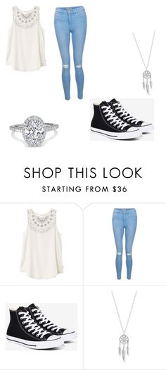 """School day"" by skylyn25 on Polyvore featuring RVCA, New Look, Converse and Lucky Brand"