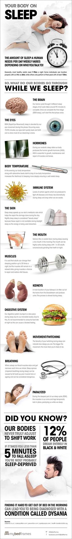 Your Body On Sleep (Infographic) Sleep is the foundation for success in all areas of your life!