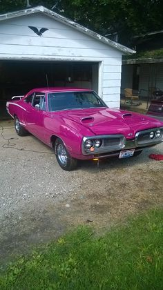 """1970 """"Panther Pink"""" Dodge Super Bee….The color Panther Pink ended up being the rarest color chosen for Super Bees with only 39 models ordered… makes you wonder how many of those 39 are still around.."""