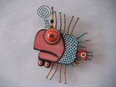 Twisted Guppy 2, Original Found Object Sculpture, Wood Carving, Wall Art, by Fig Jam Studio. $58.00, via Etsy.