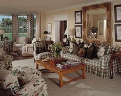 Plaid! English Country Home Decor | Decorating Passions......Charming English Country!