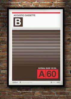 Cassette Print 08 by Neil Stevens Print Shop