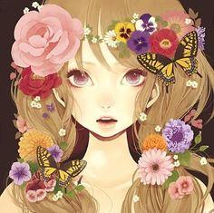 anime art, butterfly..