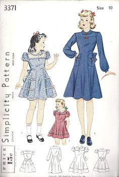 Vintage girls pattern