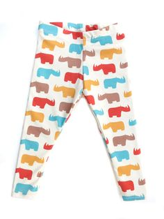 Fall 2014 Collection: Rhinos Leggings for your baby or toddler from www.brikhouse.com