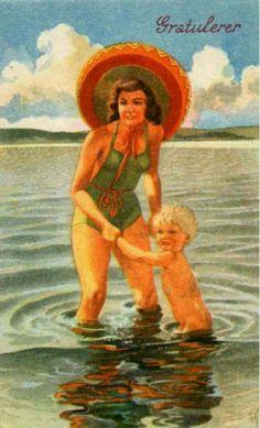 Gratulasjonskort Erling Nielsen Norsk arbeide 1950-tallet
