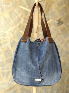 Large Recycled Upcycled Jeans Denim Tote Bag Gym Bag Diaper Bag Shopping Market Bag Beach Bag Smart Stylish Handbag Library Bag for Women - You are in the right place about easy crafts Here we offer you the most beautiful pictures about t - Library Bag, Denim Tote Bags, Old Jeans, Denim Bags From Jeans, Market Bag, Long Wallet, Handmade Bags, Diaper Bag, Shopping Bag