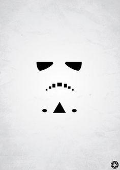 storm trooper minimalist image Rafal Rola