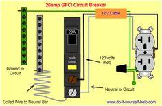 wiring diagram 15 amp circuit breaker 120 volt circuit electrical rh pinterest com Shunt Trip Breaker Wiring Diagram for Hood Main Breaker Panel Wiring Diagram