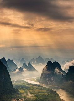 Guilin, China.It is one of China's most popular tourist destinations and has long been renowned for its scenery of karst topography.