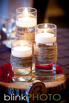 floating candles #garland wedding #lewiston weddings #yourethebride