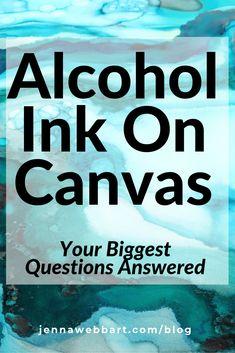Alcohol Ink Glass, Alcohol Ink Crafts, Alcohol Ink Painting, Alcohol Ink Tiles, Rubbing Alcohol, Jenna Webb, Chakra Painting, Marker Crafts, Mixed Media Tutorials