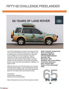 Land Rover is a car brand that specialises in four-wheel-drive vehicles, owned by British multinational car manufacturer Jaguar Land Rover, which has been Land Rover Car, Jaguar Land Rover, Land Rover Defender, Advertising History, Car Advertising, Range Rover Off Road, Mercedes Gl, Land Rover Freelander, 65th Anniversary