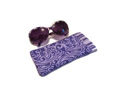 Sunglass Case Sunglasses Case Purple and by DianesDiversions