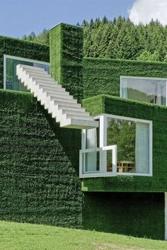 10 pics, grass covered house