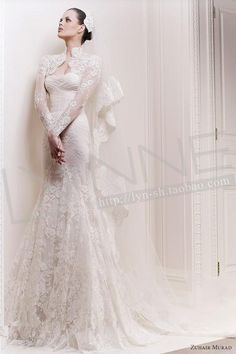 Boutique wedding formal dress advanced zuhair murad elegant long-sleeve full lace fish tail wedding dress on AliExpress.com. 15% off $802.66