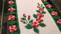 Renkli Yuvarlak Masa Örtüsü Örnekleri Christmas Tree, Rugs, Holiday Decor, Home Decor, Slipcovers For Chairs, Napkin, Towels, Art, Teal Christmas Tree