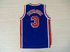 drazen petrovic new jersey nets - blue