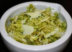 Shaved Brussles Sprouts with Ultra Premium Olive Oils & Parmesan Cheese