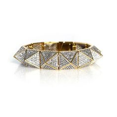 pave pyramid stud bracelet, i've been obsessed with this for a long time! Noir Jewelry, Jewelry Box, Jewelery, Jewelry Accessories, Fashion Jewelry, Fashion Accessories, Party Fiesta, Diamond Are A Girls Best Friend, Cuff Bracelets