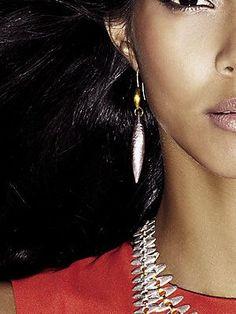 GURHAN 24K Gold & Silver Drop Earrings
